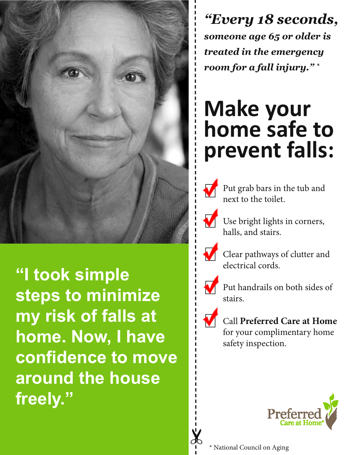 Preferred Care at Home Offers Complimentary Home Safety Inspections