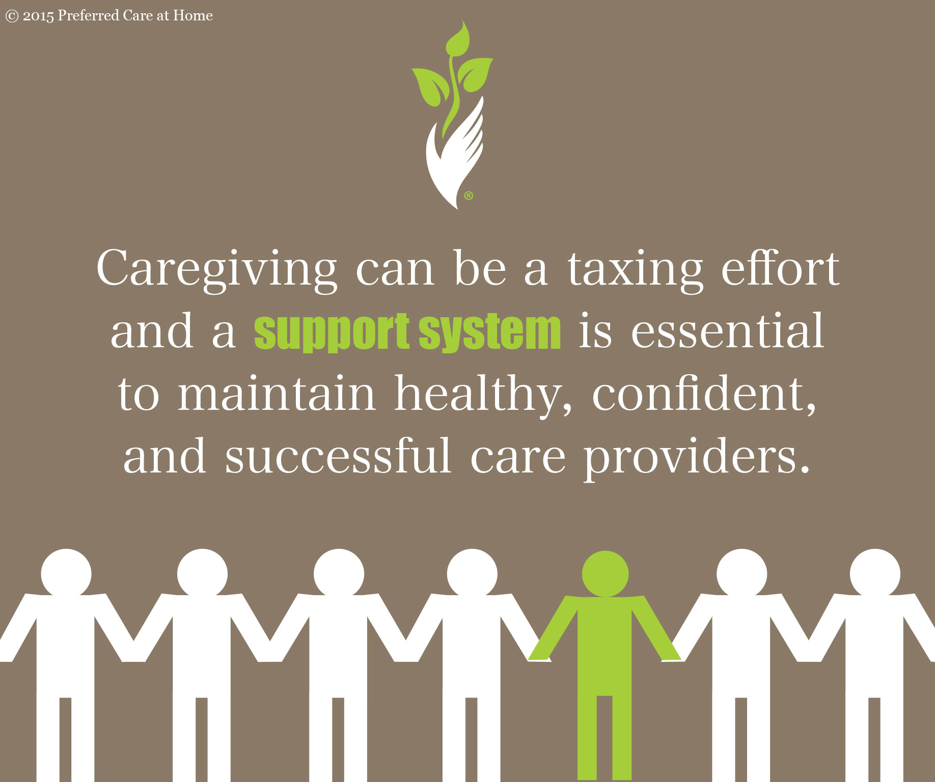 Key to Reducing Caregiver Stress:  Positive Attitude and Support