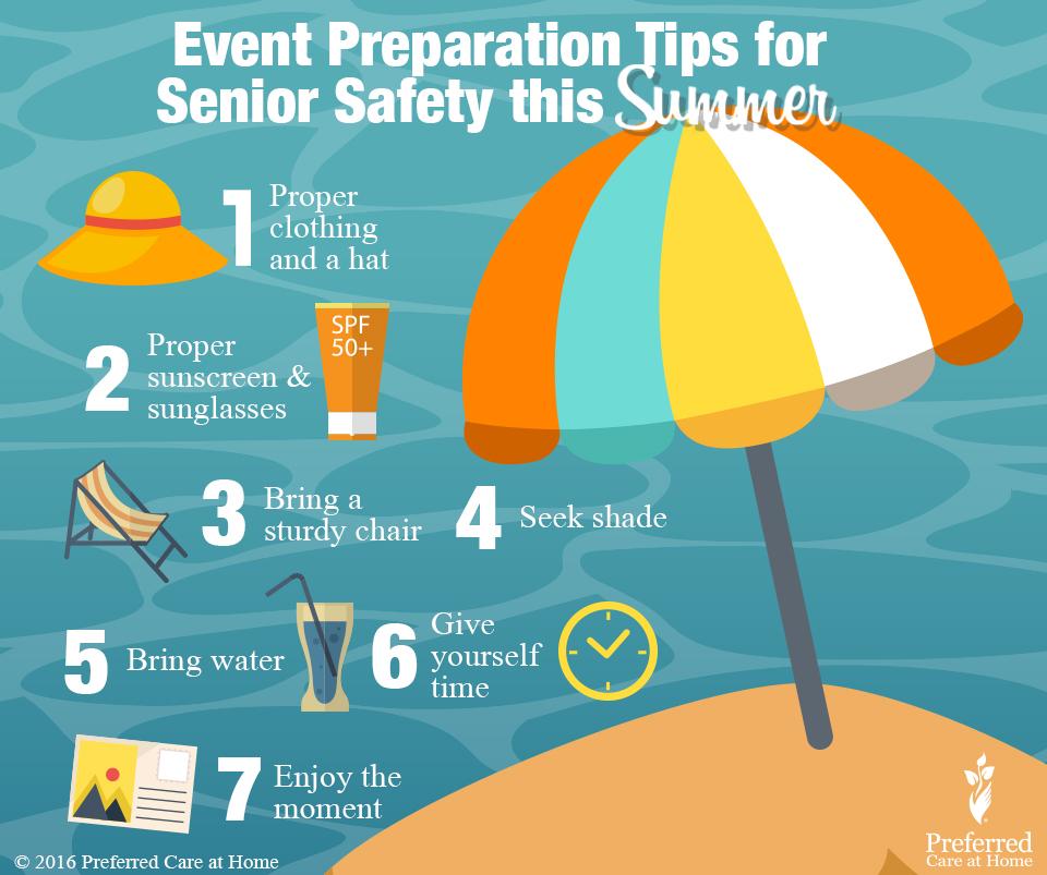 Summertime Event Preparation Tips for Senior Safety