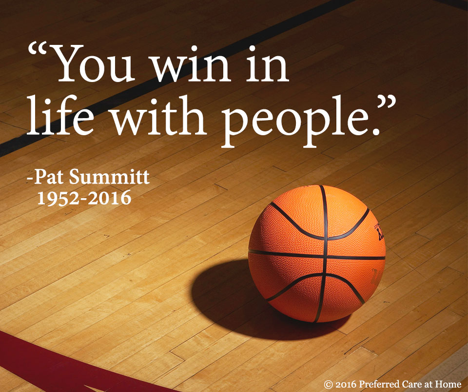 Pat Summitt: You Win in Life with People