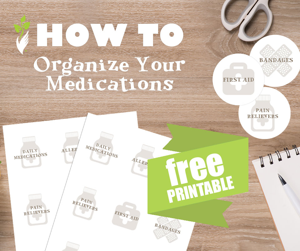 How to Organize Your Medications {Free Printable!}
