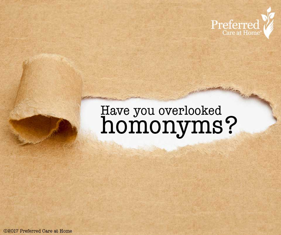Elder Law: Have you overlooked homonyms?